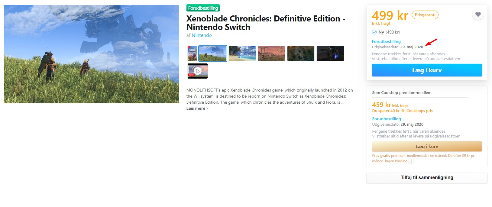 Xenoblade Chronicles: elenco dell'edizione definitiva