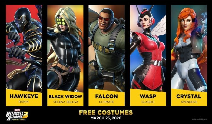 Costumi Marvel Ultimate Alliance 3